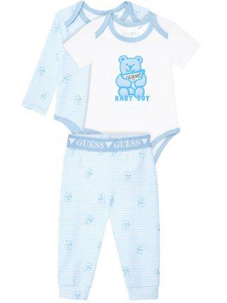 Guess Подаръчен комплект 2 бр. бебешки бодита с клин Baby Boy