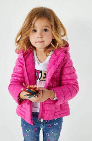 Guess детска блуза с дълъг ръкав с ефектно лого
