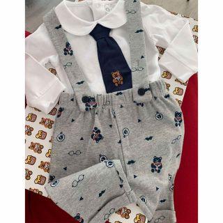 Guess Бебешки комплект 2части- боди с вратовръзка и гащеризон за момче
