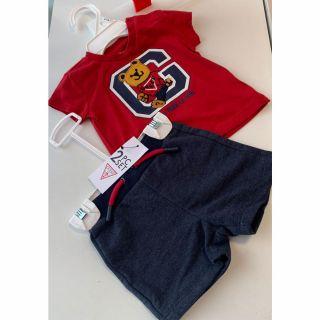 Guess бебешки комплект тениска и долнище