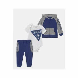 Guess бебешки спортен комплект 3 части за момче, син/сив
