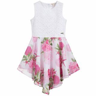 Guess официална детска рокля шифон с Рози
