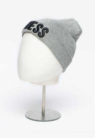Guess детска сива шапка за момиче с надпис