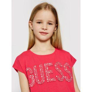 Guess детска тениска с камъни и перли