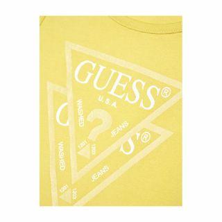 Guess детска жълта рокля с триъгълно лого