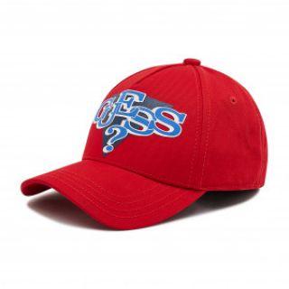 Guess детска червена шапка с козирка за момче