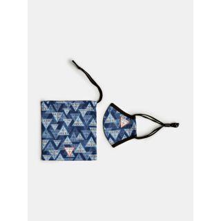 Guess детска  маска с лого и торбичка за съхранение Unisex