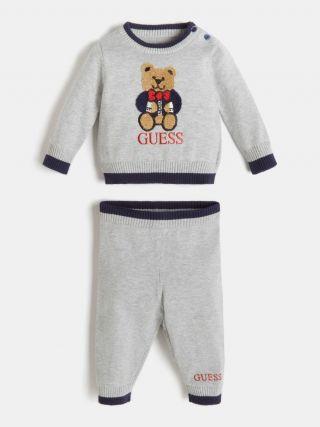 Guess Бебешки плетен комплект за момче Bear