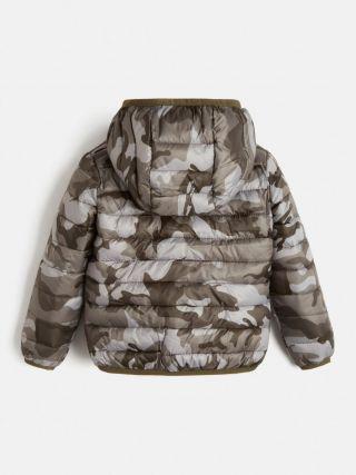 Guess детско яке с качулка унисекс Camouflage