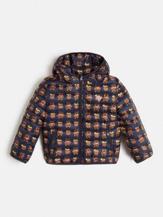 Guess Bear Детско яке за момче с качулка и мечета