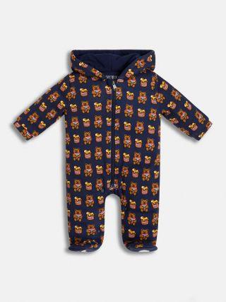 Guess Бебешки унисекс космонавт с качулка и мечета Bear в подаръчна кутия