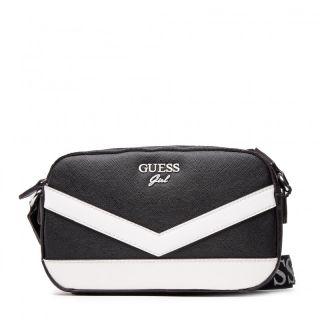 Guess детска чанта за момиче с надписи, JORJA Black