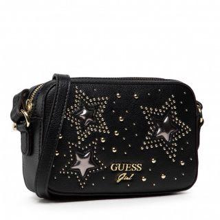 Guess детска черна чанта със звезди NIKIAH