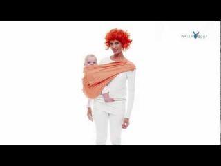 Wallaboo памучен слинг (3.5-15кг) оранжев