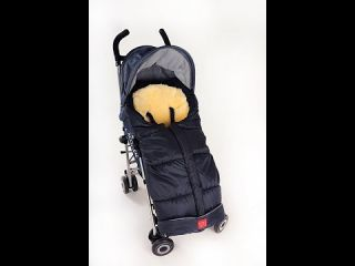 Kaiser Детски термочувал за количка с отделяща се подложка от овча кожа, Sheepy Anthracite