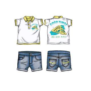 Guess бебешки сет 2 части - тениска тип риза и къс панталон
