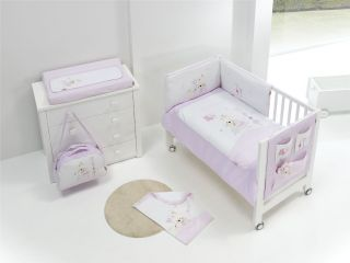 Interbaby oрганайзер за детско креватче Rabbits, 55х60см
