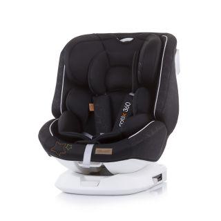 Chipolino детско столче за кола Ротикс 360 ISoFix, Група 0+,I,II,III КАРБОН