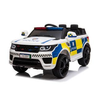 Акумулаторен бял джип Полиция Chipolino