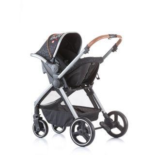 Chipolino Бебешка количка Према 3 в 1 оникс