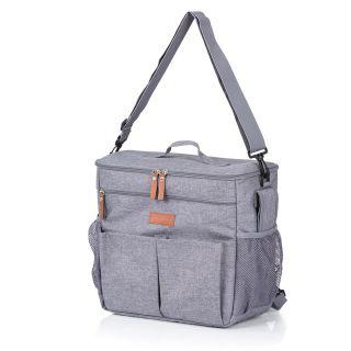 Термораница/чанта за бебешка количка, сива Chipolino