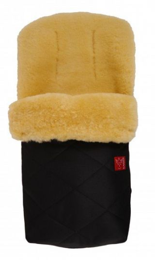 Kaiser Пухкав детски термочувал за количка с овча вълна, 90х45см, Natura