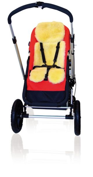 Kaiser Подложка от овча вълна за количка или столче, 80x35см, Little King