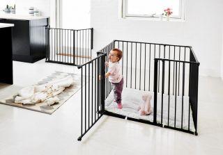 Babydan Детска кошара с килимче Baby Pen черен