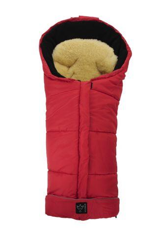 Kaiser Детски термочувал за количка с отделяща се подложка от овча кожа, Sheepy Red