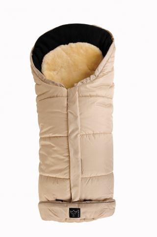 Kaiser Детски термочувал за количка с отделяща се подложка от овча кожа, Sheepy Sand