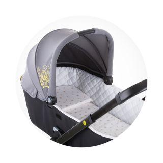 Универсален мемори матрак за детска количка Сив