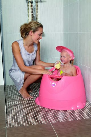 OkBaby Вана за къпане и сядане ОПЛА розова 12м+