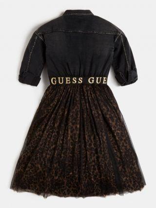 Guess Детскa рокля с тигров десен