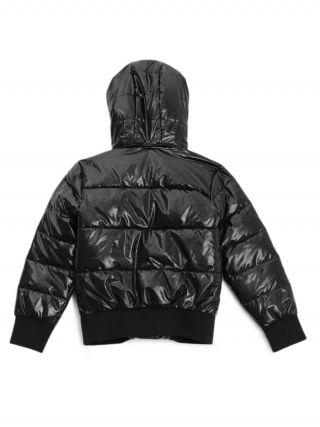Детско зимно черно яке с надписи Guess
