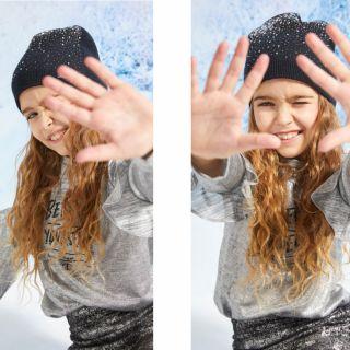 Guess зимна шапка с камъни за момиче
