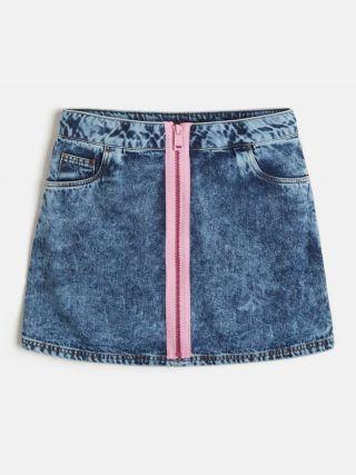 Guess къса дънкова пола с цип
