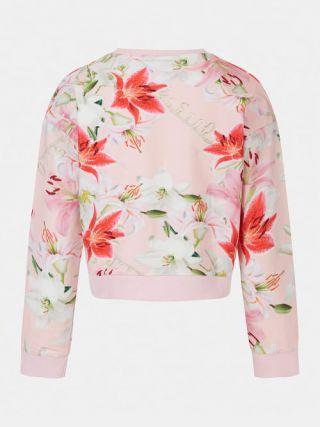 Guess детска блуза с дълъг ръкав и флорален десен