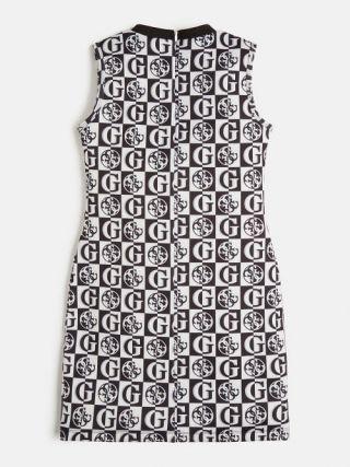 Guess детска цикламена блуза с дълъг ръкав с лого и камъни