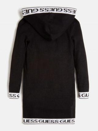 Guess Черна рокля с качулка