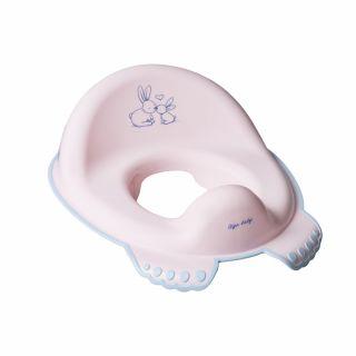 Седалка за WC с гумички Tega Baby Little Bunnies, розов