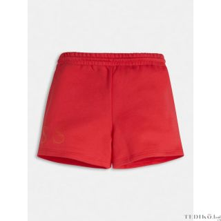 Guess детски червени къси панталони с лого