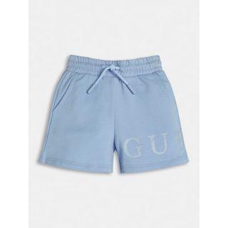 Guess детски къс панталон за момиче в син цвят