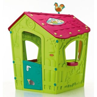 Keter Magic Playhouse пластмасова къща за игра зелено/синьо/розово
