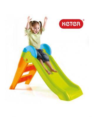 Keter Boogie Slide детска пързалка зелено/оранж