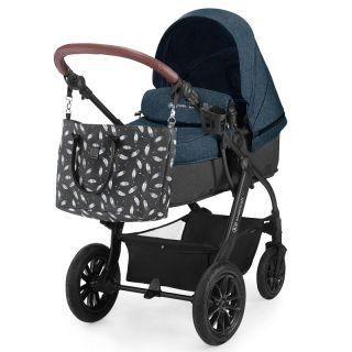 Бебешка количка 3в1 KinderKraft Xmoov, Синя