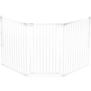 BabyDan Комбинирана преграда L - 105 см височина бяла