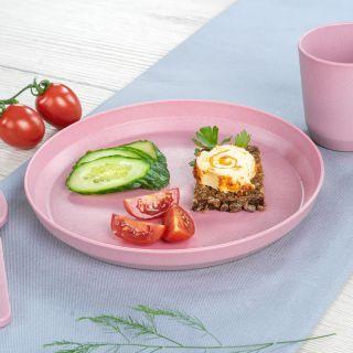 Комплект 2 броя детски чинийки Reer, Розови
