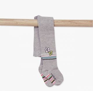 Boboli бебешки чорапогащник Never Alone grey 12м/80см