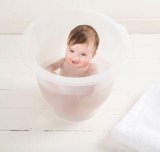 Doomoo Basics Вана за къпане на новородено Shantala White