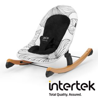 Бебешка люлка-шезлонг KinderKraft FINIO, черен